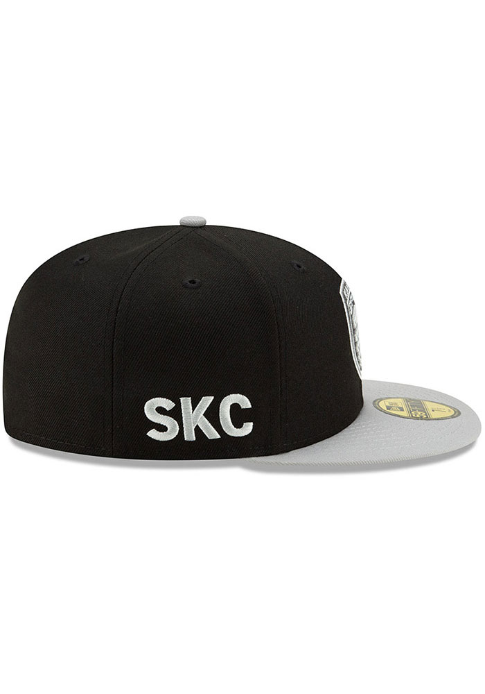 New Era Sporting Kansas City Mens Black Away Jersey Hook 59FIFTY Fitted Hat - Image 6