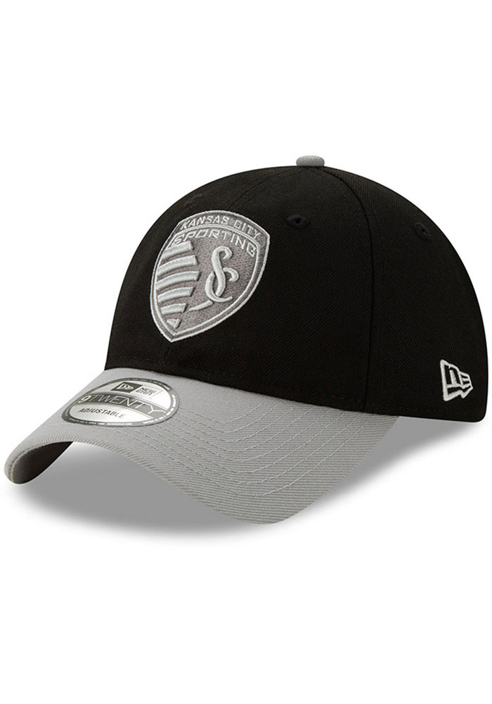 Sporting Kansas City New Era Away Jersey Hook 9TWENTY Adjustable Hat - Black