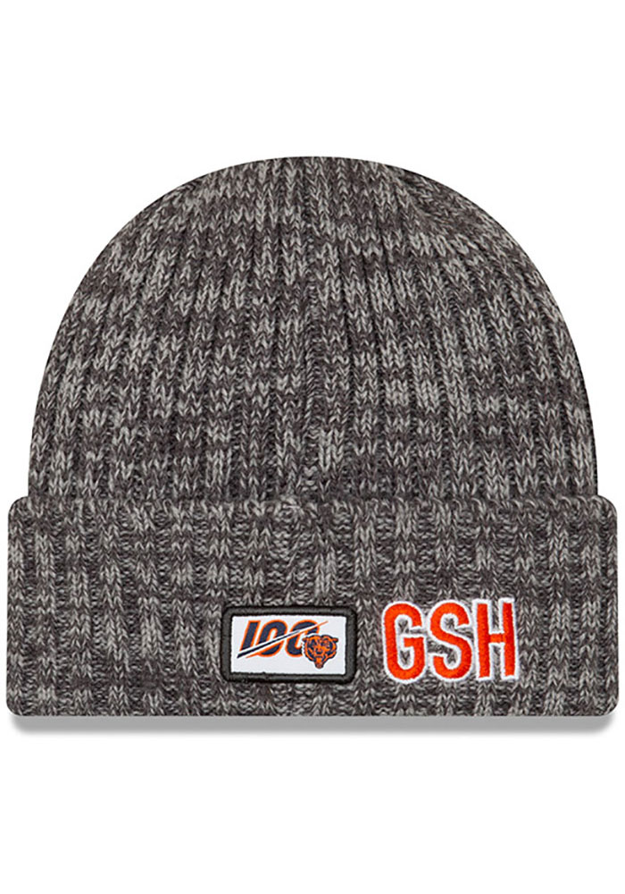 New Era Chicago Bears Grey 2019 Crucial Catch Cuff Mens Knit Hat - Image 3