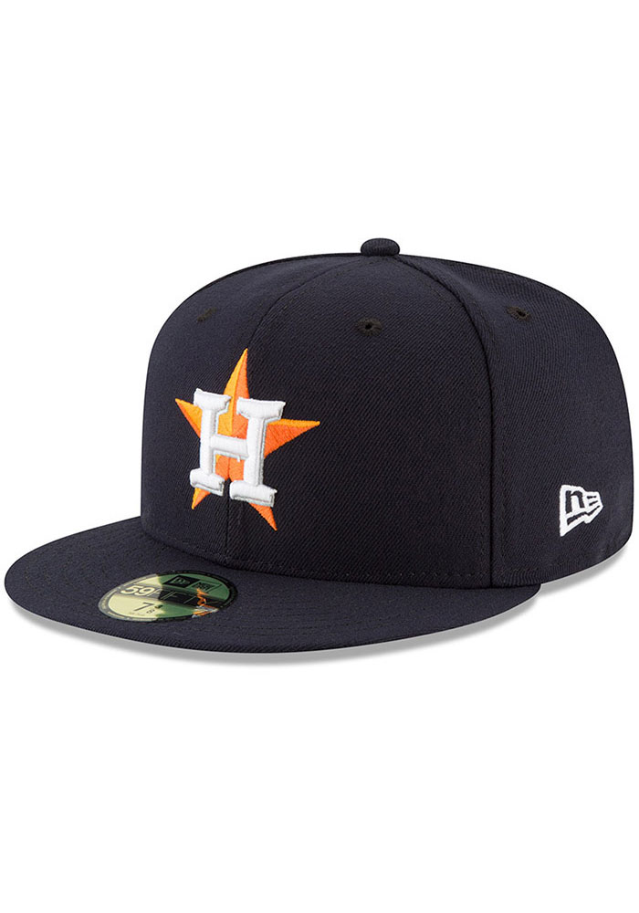 New Era Houston Astros Mens Navy Blue AC Game 59FIFTY Fitted Hat - Image 1