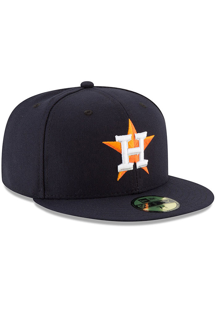 New Era Houston Astros Mens Navy Blue AC Game 59FIFTY Fitted Hat - Image 2