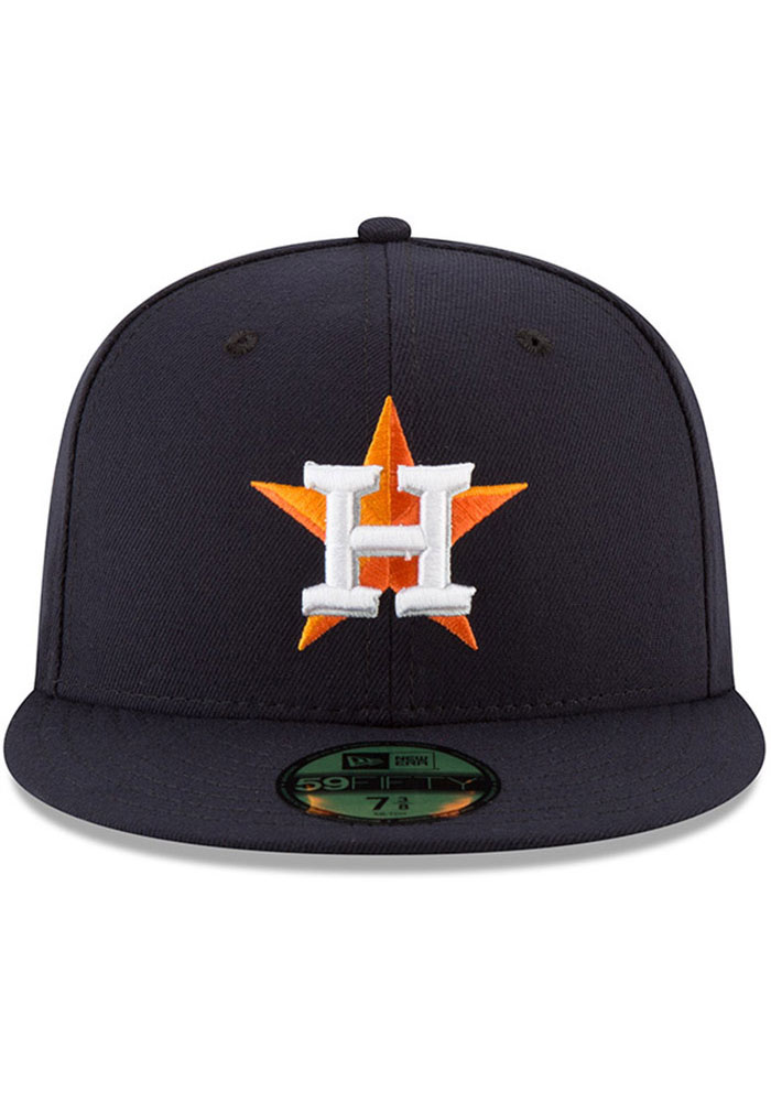 New Era Houston Astros Mens Navy Blue AC Game 59FIFTY Fitted Hat - Image 3