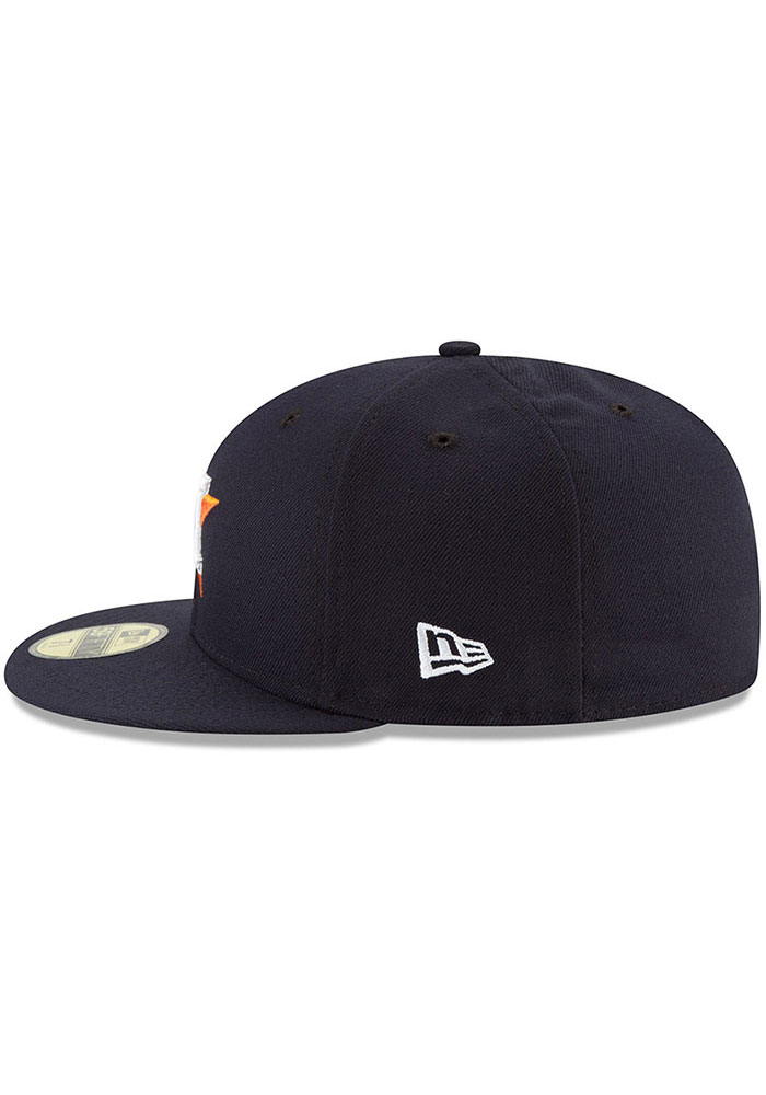 New Era Houston Astros Mens Navy Blue AC Game 59FIFTY Fitted Hat - Image 4