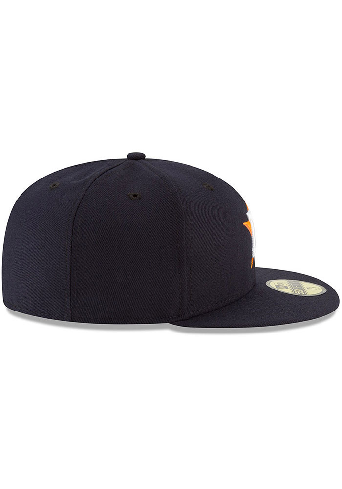 New Era Houston Astros Mens Navy Blue AC Game 59FIFTY Fitted Hat - Image 6