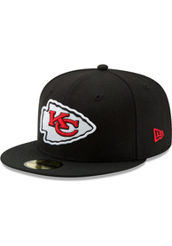 Kansas City Chiefs New Era Basic 59FIFTY Fitted Hat - Black