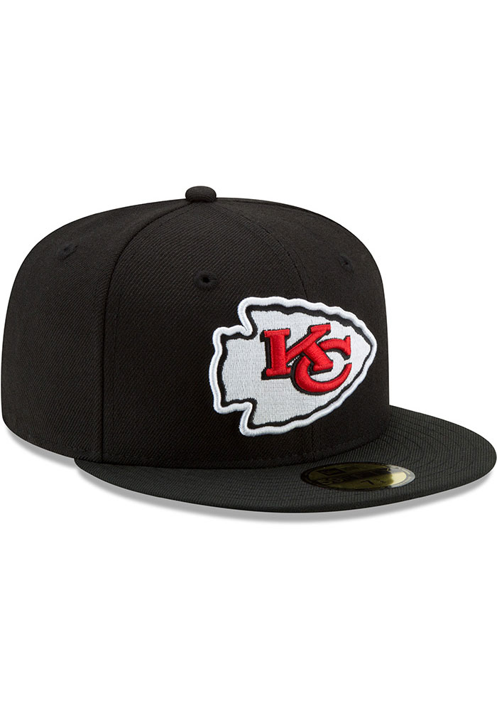 New Era Kansas City Chiefs Mens Black Basic 59FIFTY Fitted Hat - Image 2
