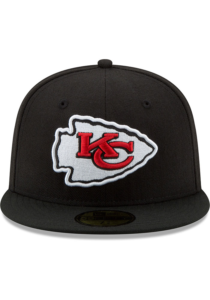 New Era Kansas City Chiefs Mens Black Basic 59FIFTY Fitted Hat - Image 3