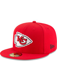 Kansas City Chiefs New Era Basic 59FIFTY Fitted Hat - Red