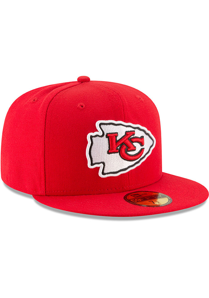 New Era Kansas City Chiefs Mens Red Basic 59FIFTY Fitted Hat - Image 2