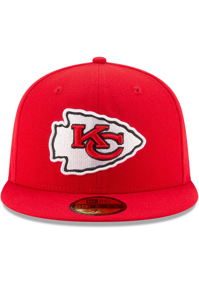 New Era Kansas City Chiefs Mens Red Basic 59FIFTY Fitted Hat - Image 3