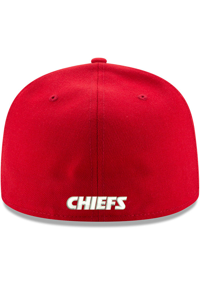 New Era Kansas City Chiefs Mens Red Basic 59FIFTY Fitted Hat - Image 4