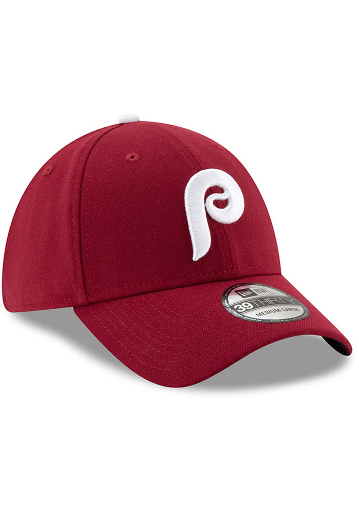 New Era Philadelphia Phillies Mens Maroon Team Classic 39THIRTY Flex Hat - Image 2