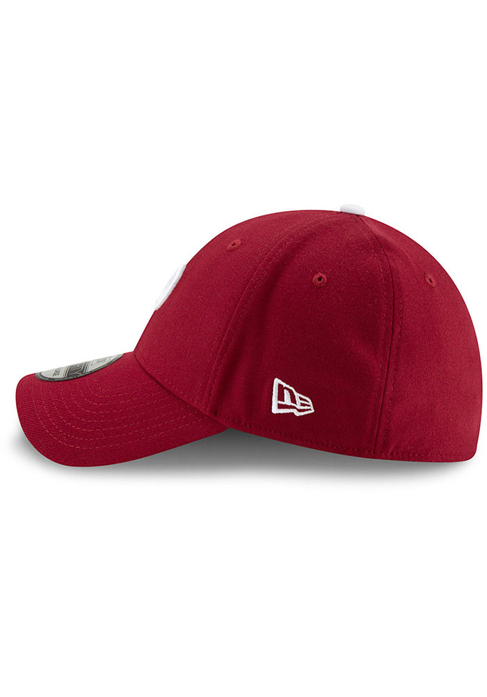 New Era Philadelphia Phillies Mens Maroon Team Classic 39THIRTY Flex Hat - Image 4
