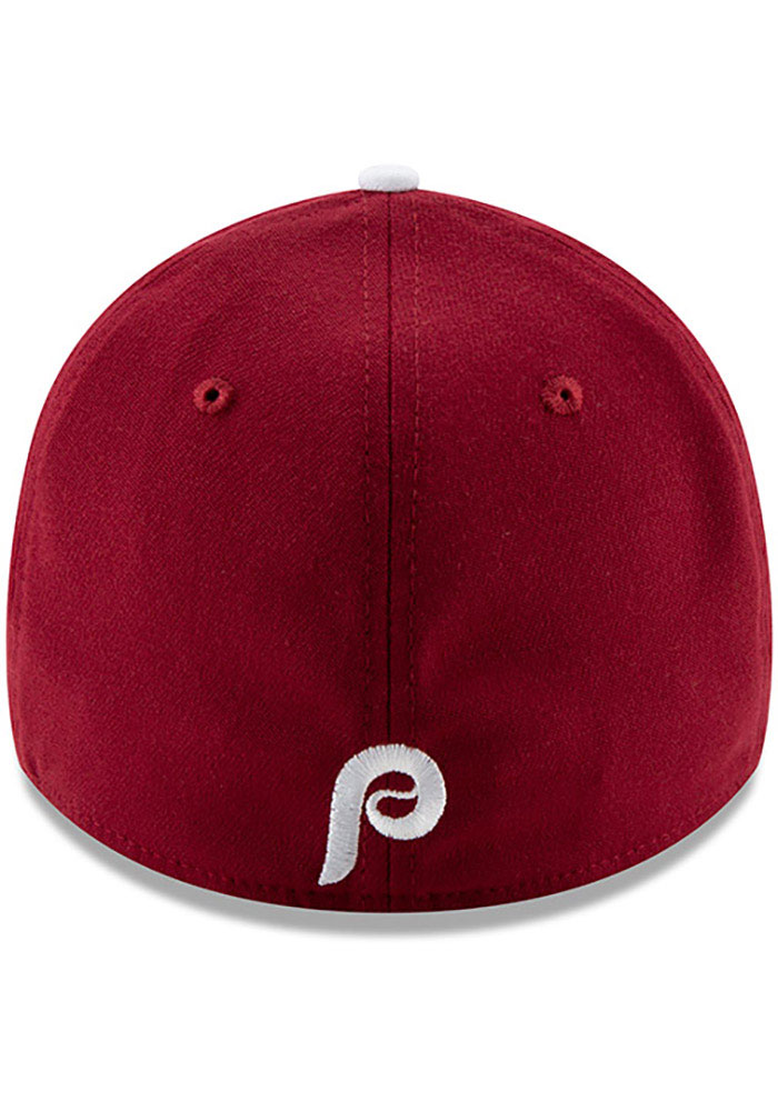 New Era Philadelphia Phillies Mens Maroon Team Classic 39THIRTY Flex Hat - Image 5
