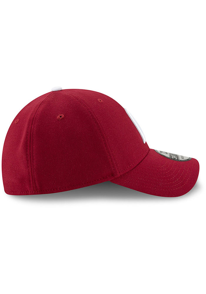 New Era Philadelphia Phillies Mens Maroon Team Classic 39THIRTY Flex Hat - Image 6