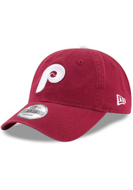 Philadelphia Phillies New Era Maroon Cooperstown NE Core Fit 49FORTY Fitted Hat