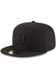 Detroit Tigers New Era Black On Black 59FIFTY Fitted Hat
