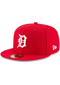 Detroit Tigers New Era Fashion Basic 59FIFTY Fitted Hat - Red