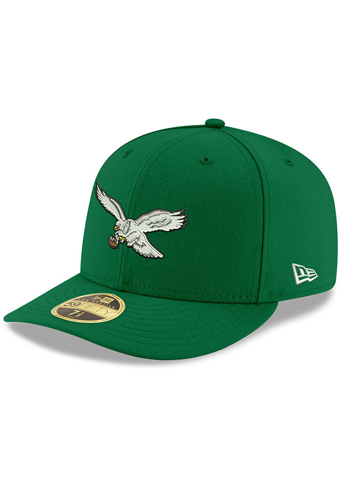 New Era Philadelphia Eagles Mens Kelly Green Basic LP59FIFTY Fitted Hat - Image 1