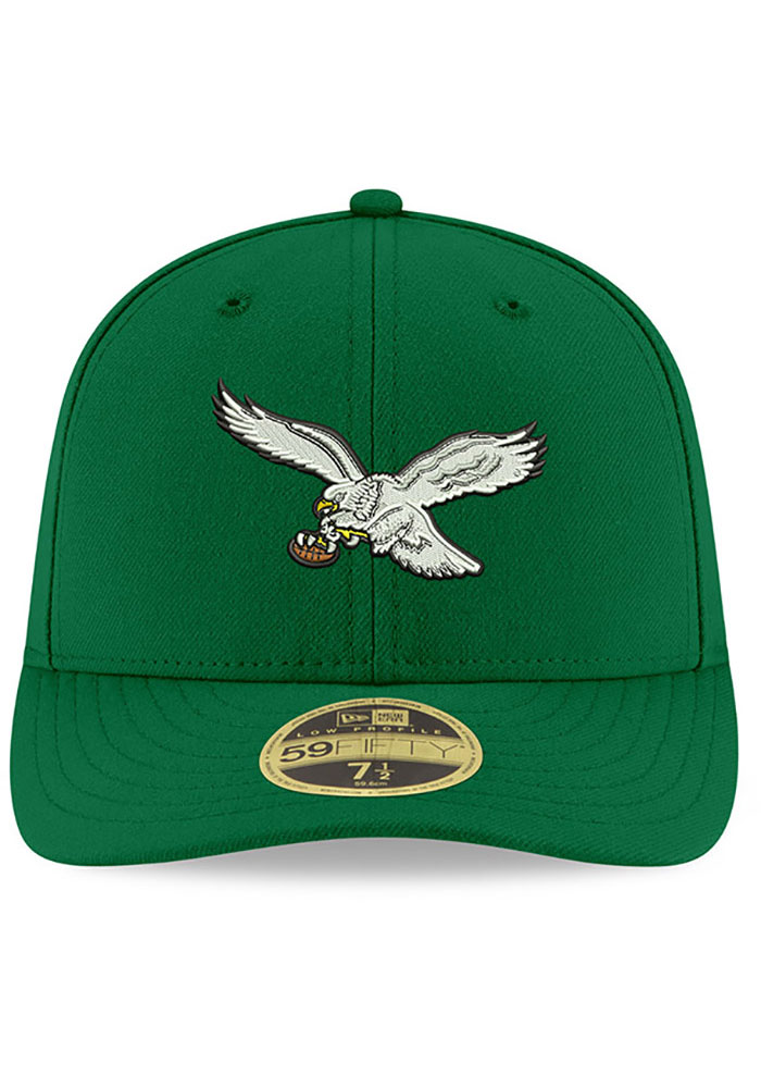New Era Philadelphia Eagles Mens Kelly Green Basic LP59FIFTY Fitted Hat - Image 3