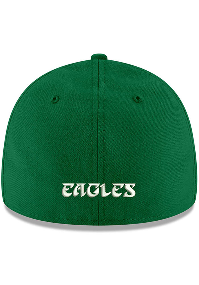 New Era Philadelphia Eagles Mens Kelly Green Basic LP59FIFTY Fitted Hat - Image 4