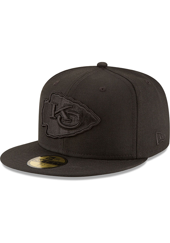 New Era Kansas City Chiefs Mens Black On Black Basic 59FIFTY Fitted Hat - Image 1
