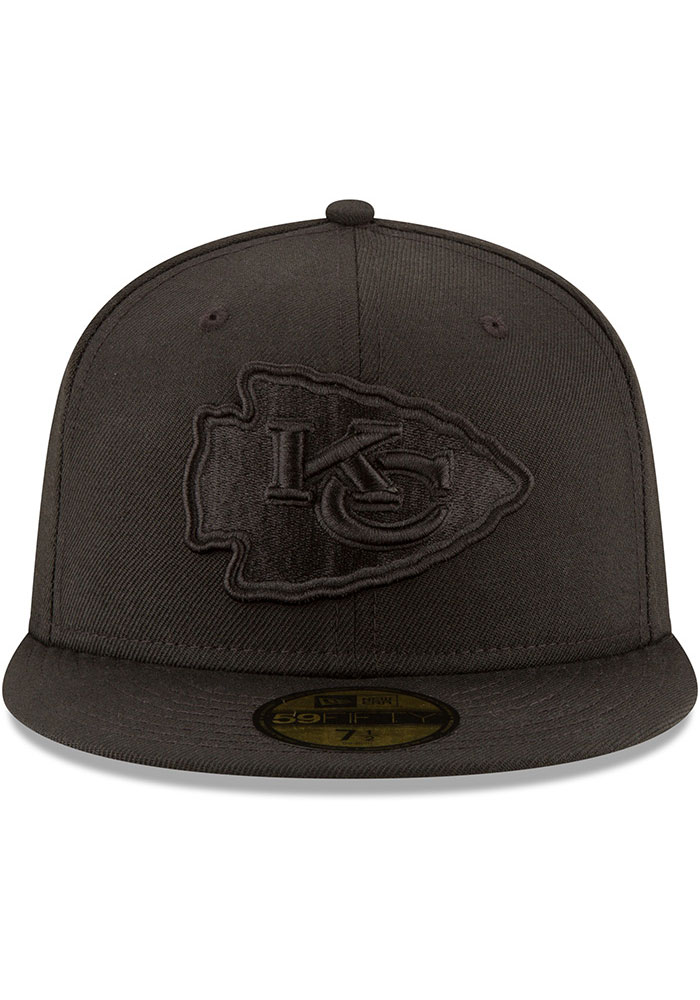 New Era Kansas City Chiefs Mens Black On Black Basic 59FIFTY Fitted Hat - Image 3