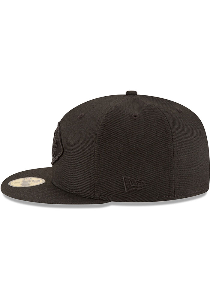 New Era Kansas City Chiefs Mens Black On Black Basic 59FIFTY Fitted Hat - Image 4