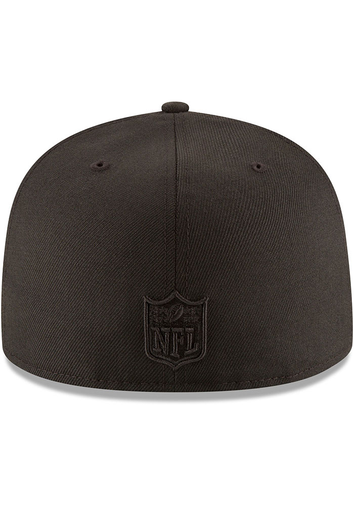 New Era Kansas City Chiefs Mens Black On Black Basic 59FIFTY Fitted Hat - Image 5