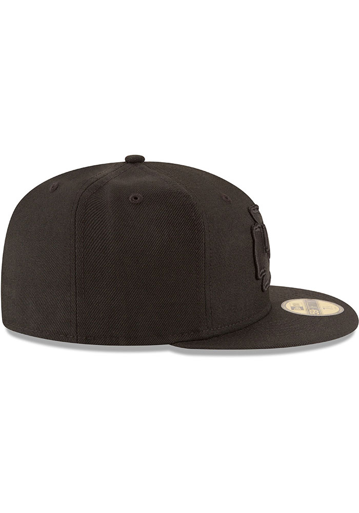 New Era Kansas City Chiefs Mens Black On Black Basic 59FIFTY Fitted Hat - Image 6