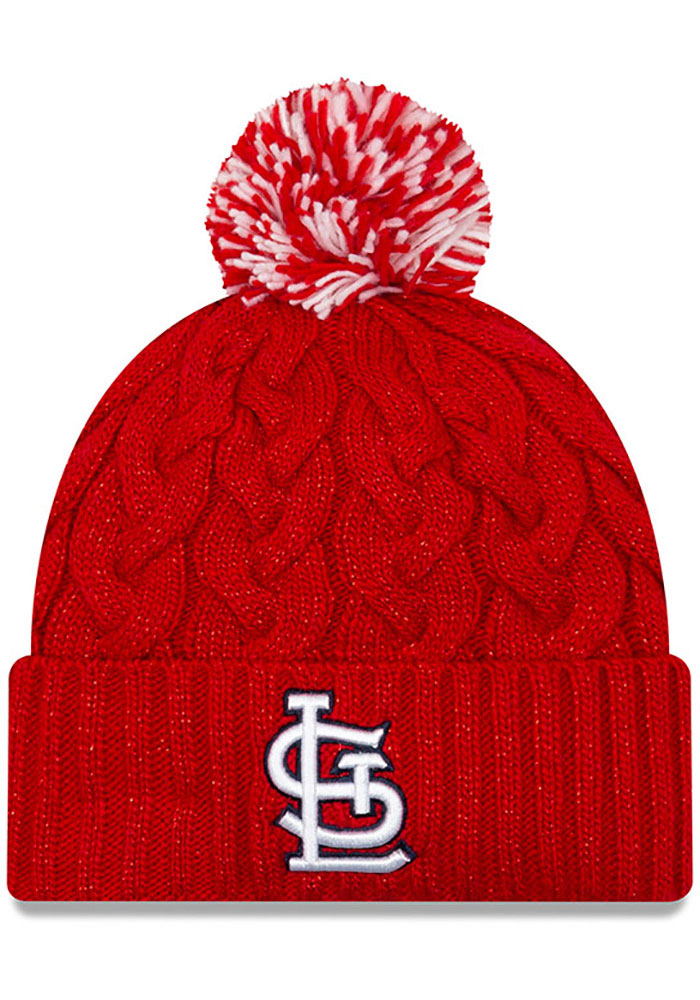 New Era St Louis Cardinals Red Cozy Cable Womens Knit Hat - Image 1