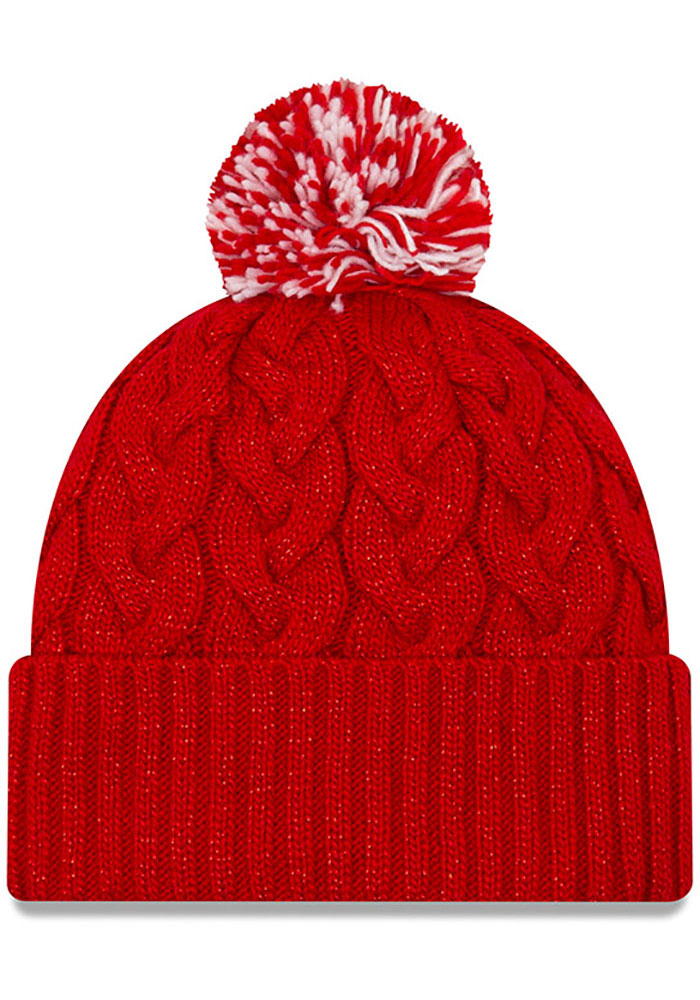 New Era St Louis Cardinals Red Cozy Cable Womens Knit Hat - Image 2