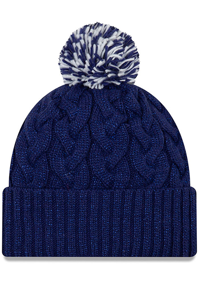 New Era Texas Rangers Blue Cozy Cable Womens Knit Hat - Image 2