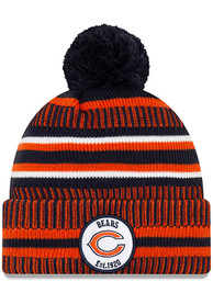 New Era Chicago Bears Navy Blue 2019 Official JR Home Sport Youth Knit Hat