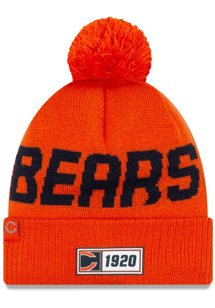 New Era Chicago Bears Orange 2019 Reverse JR Road Sport Youth Knit Hat
