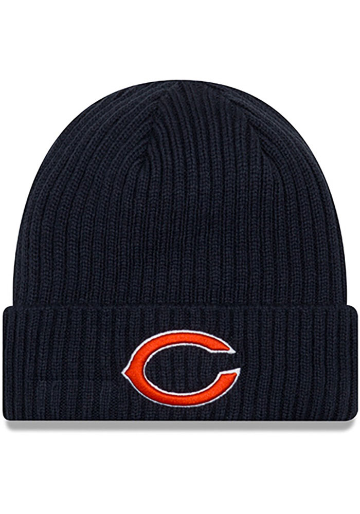 Chicago Bears New Era Core Classic Cuff Knit - Navy Blue