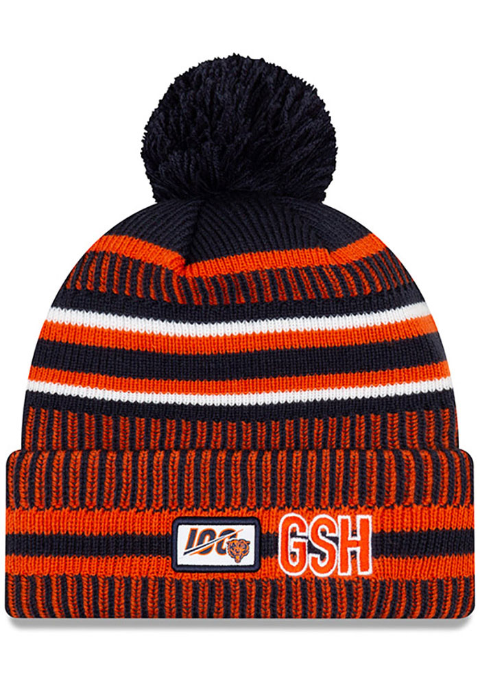 New Era Chicago Bears Navy Blue 2019 Official Home Sport Mens Knit Hat - Image 2