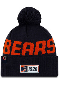 New Era Chicago Bears Navy Blue 2019 Official Road Sport Knit Hat