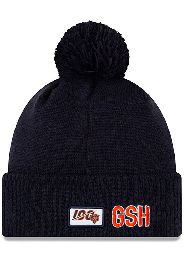 New Era Chicago Bears Navy Blue 2019 Official Road Sport Mens Knit Hat - Image 2