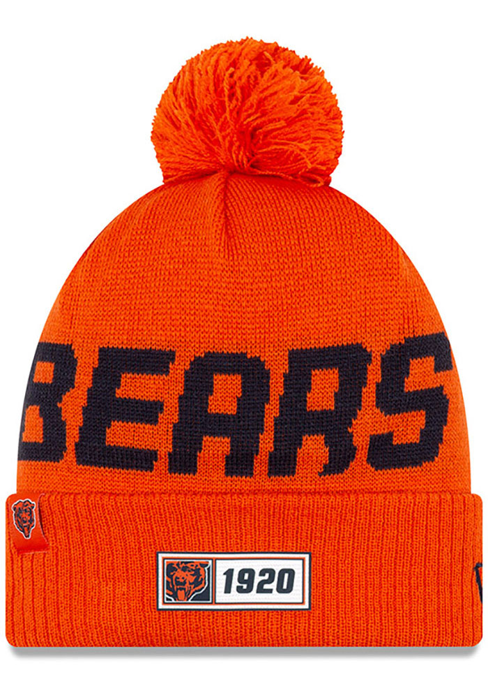 Chicago Bears New Era Historic 2019 Reverse Road Sport Knit - Orange