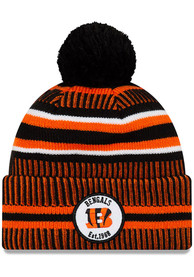 New Era Cincinnati Bengals Black 2019 Official JR Home Sport Youth Knit Hat