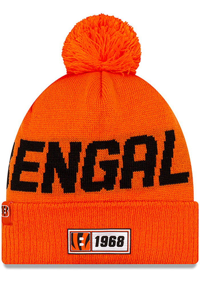 Cincinnati Bengals New Era 2019 Reverse Road Sport Knit - Orange