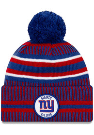 new style e95fd c2e14 New Era New York Giants Blue 2019 Official Home Sport Knit Hat