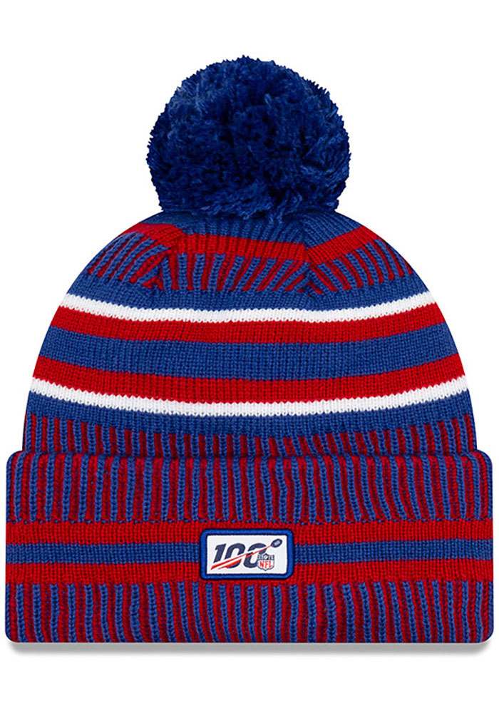 New Era New York Giants Blue 2019 Official Home Sport Mens Knit Hat - Image 2