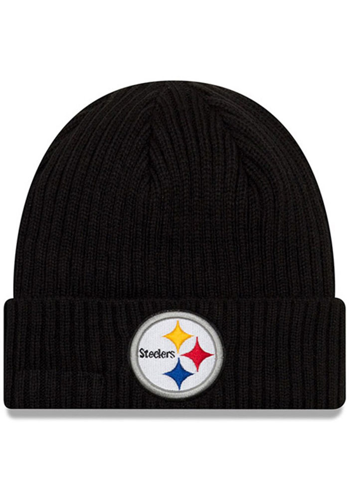 New Era Pittsburgh Steelers JR Core Classic Baby Knit Hat - Black