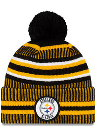 New Era Pittsburgh Steelers Black 2019 Official Home Sport Knit Hat