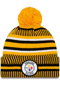 Pittsburgh Steelers New Era 2019 Reverse Home Sport Knit - Gold