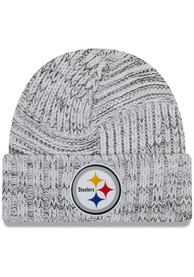 Pittsburgh Steelers Womens New Era 2019 Official Knit - Grey