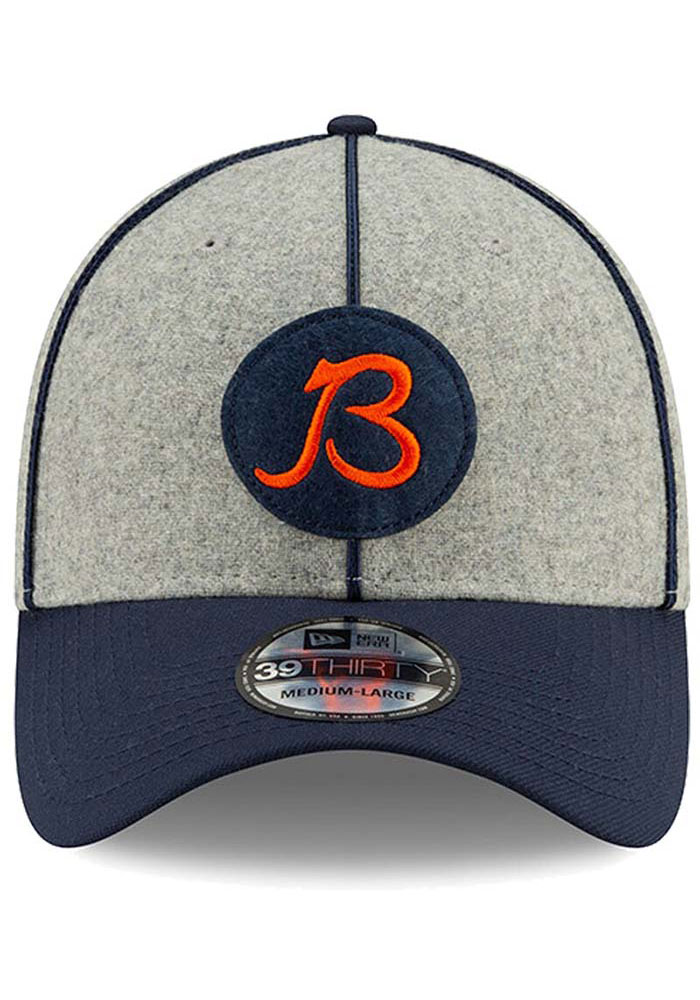 New Era Chicago Bears Grey JR 2019 Official Sideline Home 39THIRTY Youth Flex Hat - Image 2