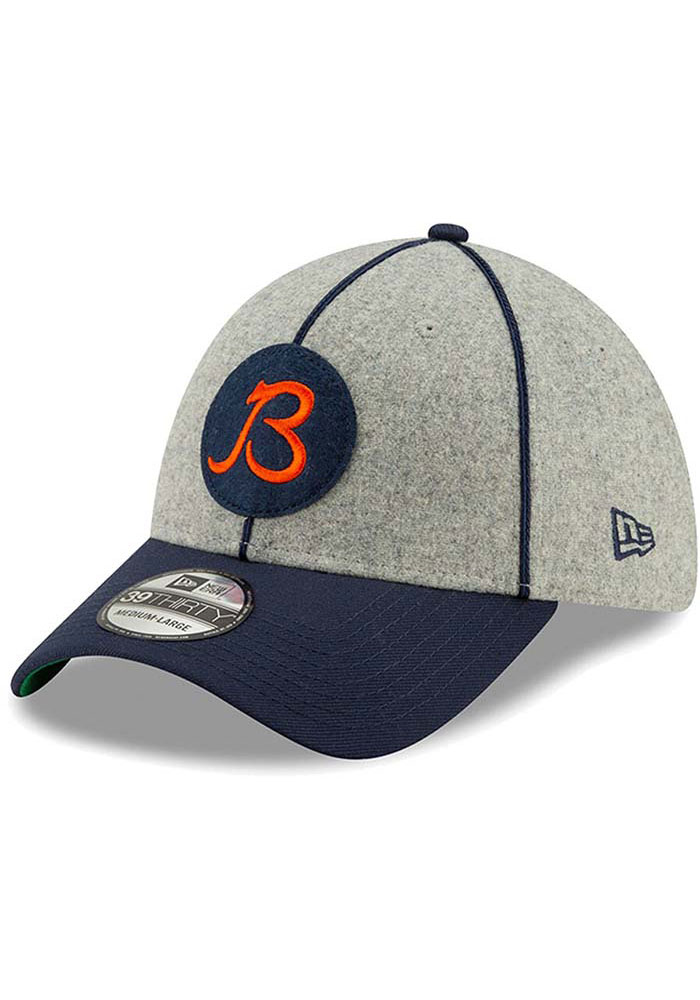 New Era Chicago Bears Grey JR 2019 Official Sideline Home 39THIRTY Youth Flex Hat - Image 3